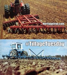 #TillageTuesday tearing up dirt with Ford and Miller implements. #HeritageIron