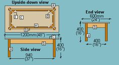 Coffee Table Plan Upside Down View Build A Coffee Table, Coffee Table Plans, Floor Plans, How To Plan, House Mouse, Projects, Craft, Building, Diy