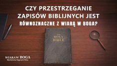 """Większość członków społeczności religijnej wierzy, że Biblia stanowi kanon chrześcijaństwa, że trzeba trzymać się jej i opierać swoją wiarę w Pana wyłącznie na Biblii oraz że nie można nazywać się wierzącym, jeśli odrzuci się Biblię. Czy wiara w Pana i wiara w Biblię to to samo? Jaki dokładnie jest związek między Biblią a Panem? Pan Jezus raz upomniał faryzeuszy tymi słowami: """"Badajcie Pisma; sądzicie bowiem, że w nich macie życie wieczne, a one dają świadectwo o mnie(...) #Ostatniedni Videos, Bible"""