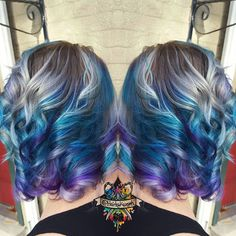 Love me some shadow root!  Using Kenra color 7sm 8sm with scruples new teal and purple. Along with @lunatikhairdye absinthe #kenracolor #scruples #lunatikhairdye