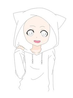 anime girl body outline | Drawing skill set | Drawings ...