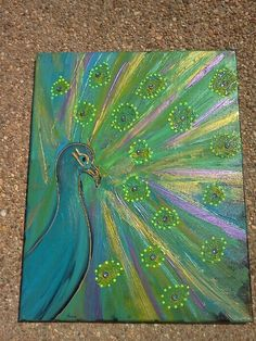 Peacock by AshleeBrookeBell on Etsy, $55.00