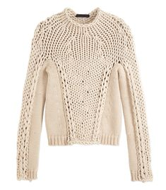 Alexander Wang Seamless Chunky Hand-Knit Sweater - ShopBAZAAR
