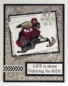 Stamp Shoppe Creations - Snowmobile Racer