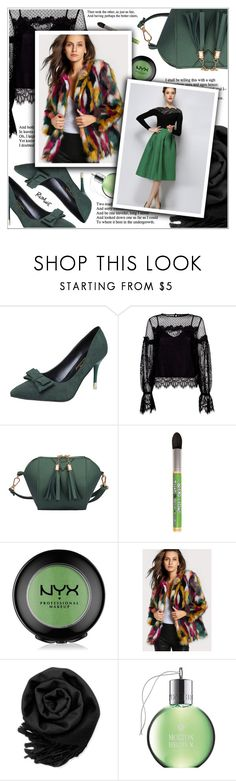 """Night Out Look"" by shambala-379 ❤ liked on Polyvore featuring Maje, NYX, Gearonic and Molton Brown"
