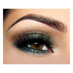 Simple Brown&Green Smokey Eye | Idea Gallery | Makeup Geek ❤ liked on Polyvore featuring beauty products, makeup, eye makeup, eyeshadow, eyes and beauty
