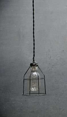 Industrial Open Cage Hanging Pendant Lights