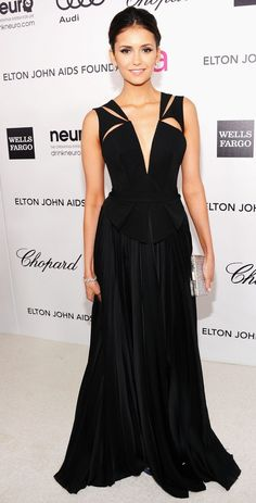 nina dobrev in j. mendel @ the elton john oscar party