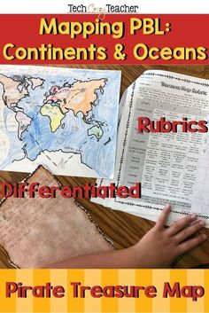 Become a pirate! Cross every continent and ocean to bury your treasure! This elementary Project Based Learning (PBL) activity assess your students' knowledge of continents, oceans, and mapping skills in your Social Studies classroom! In this continents a