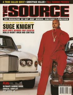 Suge Knight The Source Cover September 1996 Death Row Records Snoop Dogg 90s Hip Hop, Hip Hop And R&b, Hip Hop Rap, Source Magazine, Black Magazine, Straight Outta Compton, Bobby Brown, Eminem, Rap Us