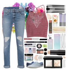 """I'm back!!"" by dna-not-perfection ❤ liked on Polyvore featuring Glamorous, rag & bone, Keds, Givenchy, Maybelline, Skin & Tonic, Fresh, Nails Inc., blacklUp and Illamasqua"