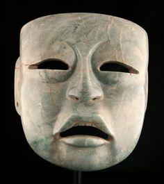 olmec jade mask ck 0736 origin mesoamerica circa 1200 bc to 500 bc ...