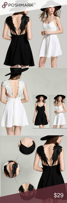 Angel wings dress. COMING SOON This is so adorable. Knit. With angel wing. In white and black. S. M. L. XL. Dresses