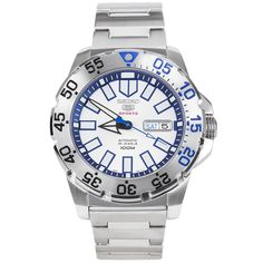 Seiko Monster White and Blue Watch SRP481K1 SRP481K