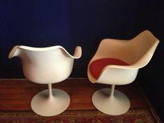 New York: Eero Saarinen Tulip Arm Chair Pair, KNOLL, mid century, eames area $900 - http://furnishlyst.com/listings/144731