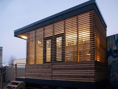 """If you've been dreaming of a tiny space created just for you that you can use for virtually any purpose your heart desires, this stylish prefab studio by Camera Buildings is for you. With a standard footprint of 12'-8"""" by 8'-5"""" for a total area of less than 10 sq.m., it often requires no building …"""