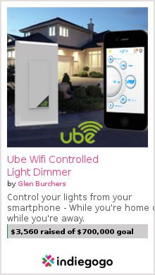 My Austin based startup releases the world's first WiFi Smart Dimmer!  Control your lights from your smart phone from anywhere in the world!  Never come home to a dark house again, and receive real time energy usage reports!