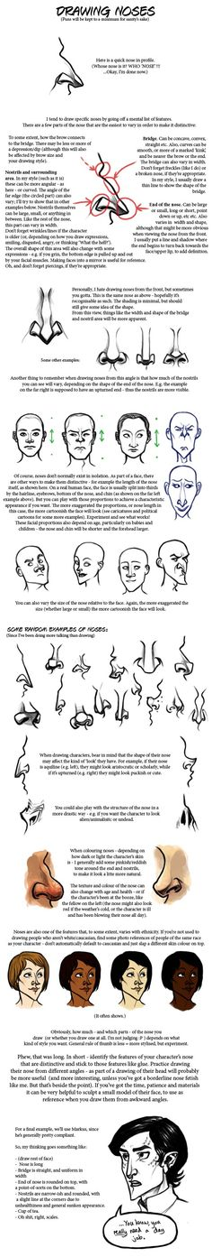 Noses tutorial by ~rosynose on deviantART ✤ || CHARACTER DESIGN REFERENCES | キャラクターデザイン • Find more at https://www.facebook.com/CharacterDesignReferences if you're looking for: #lineart #art #character #design #illustration #expressions #best #animation #drawing #archive #library #reference #anatomy #traditional #sketch #development #artist #pose #settei #gestures #how #to #tutorial #comics #conceptart #modelsheet #cartoon || ✤