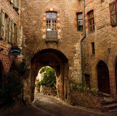One of the gates of Cordes-sur-Ciel, France.