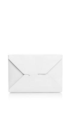 Shop White Bento Box Clutch by J.W. Anderson for Preorder on Moda Operandi