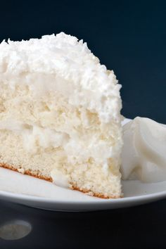 Coconut Cream Cake. This cake starts off with a mix.