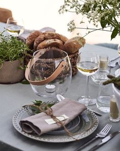 Design with Light kruka från Holmegaard passar minst lika fint som ljuslykta. Tablescapes, Table Settings, Table Decorations, Dining, Eat, Inspiration, Home Decor, Summer, Summer Decorating