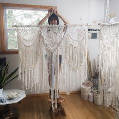 Large macrame wall hanging from Niroma Studio. Boho decor, macrame decor