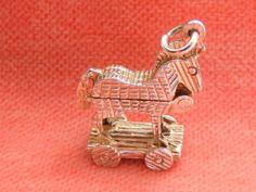 Vintage Sterling Silver Charm Trojan Horse Opens | eBay