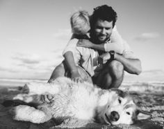 Engagement shoot at the beach with our puppy's