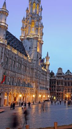 Grand Place Brussels  Belgium. i grew up in Belgium and my parents used to bring us here for dinner.
