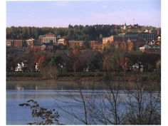 University of New Brunswick Fredericton. Miss that school on the hill Canadian Universities, New Brunswick, Study Abroad, Places Ive Been, University, Canada, River, Outdoor, Random Things