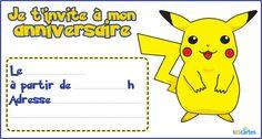 Invitation anniversaire pokemon pikachu à imprimer. La voici l'icône de la culture Kawaii dont le dessin a été inspiré d'une petite souris prête à être ton