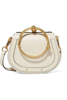Chloé Nile Bracelet Small Leather and Suede Shoulder Bag, $1,550, available at Net-A-Porter.