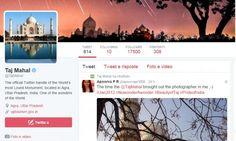 Anche il Taj Mahal cinguetta su Twitter, tra selfie e celebrities