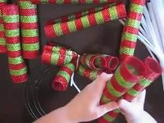 how to make curly deco mesh wreaths – Yahoo Video Search Results - Ideas 2019 Mesh Ribbon Wreaths, Christmas Wreaths To Make, Deco Mesh Wreaths, How To Make Wreaths, Holiday Wreaths, Christmas Crafts, Burlap Wreaths, Deco Mesh Crafts, Deco Mesh Garland