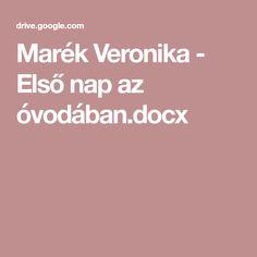 Marék Veronika - Első nap az óvodában.docx