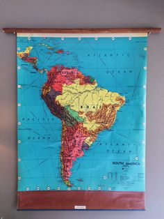 Working extra large texas pull down map wall map world map pull down map of south america hanging wall map by flickerandsway gumiabroncs Image collections