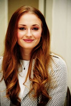 Sophie Turner aka Sansa Stark one of the most beautiful redheads I've ever seen