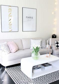70 Stylish Geometric Living Room Design & Decor Ideas - Home Decor & Design Living Room Inspiration, Room Inspiration, Living Room Designs, Living Decor, Home Decor, House Interior, Geometric Decor, Room Design, Room Decor