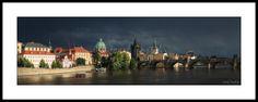 Panoramic Pictures, Charles Bridge, Saint Francis, Prague Czech, Czech Republic, Fine Art Photography, Saints, River, Mansions