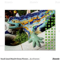 Sold this > Gaudi Lizard Hand & Green Flowers poster < to Mississippi :) thanks #Gaudi #Barcelona #Mosaics