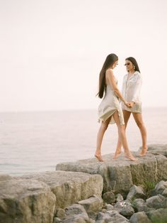 The Bond Between Sisters Showcased in this Muted and Minimally Styled Waterfront Fashion Editorial - Once Wed #bridaleditorial  #fashioneditorial #minimalistphotographyideas