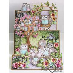 Heartfelt Creations - Flip Fold Owl Hangout Project