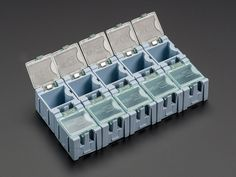Tiny Modular Snap Boxes - SMD component storage - 10 pack
