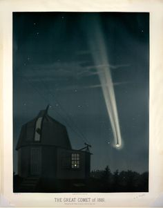 The great comet of 1881, observed on June 26, 1:30 A.M., by French artist and astronomer Étienne Léopold Trouvelot