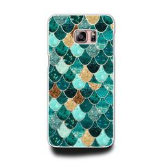 Samsung Galaxy A 3 5 7 Note 3 4 5 S3 S4 S5 S6  Phone Hard Case (Mermaid Tile)