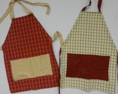 Tea Towel Aprons using Missouri Star Quilt Company tutorial.