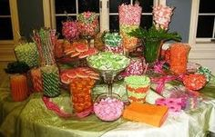 Great work putting in the color theme! This is such a great presentation! Wedding candy bar favor