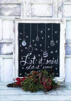 C H R I S T M A S  Chalkboard  Holiday Menu Board Wedding Restaurant Sign Wedding