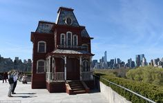 Parker said: 'When I saw the roof and the skyline, I knew I wanted to make something architectural. I read that the Psycho house was based on Hopper's House by the Railroad, so the red barn and the Psycho house became merged'